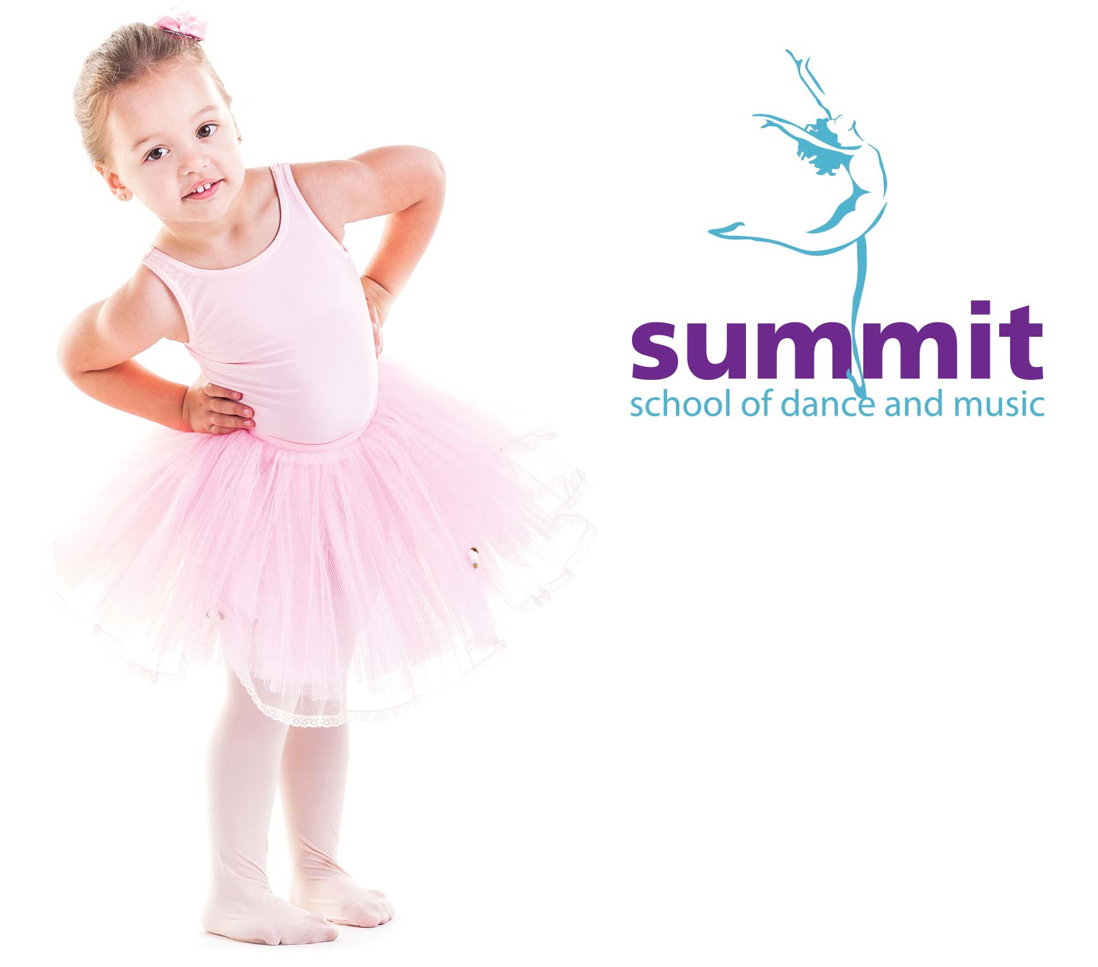 cute little girl in ballet outfit