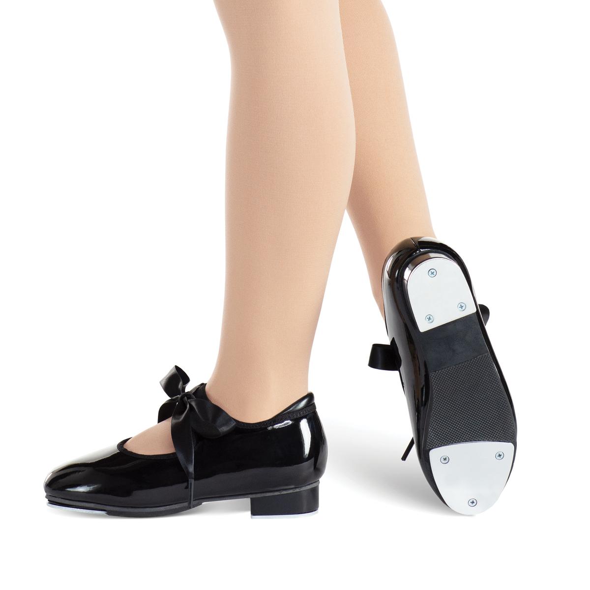 **Ribbon Tie Tap Shoe (Black)**